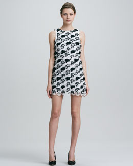 Alice + Olivia Mackynzie Sleeveless Applique Dress