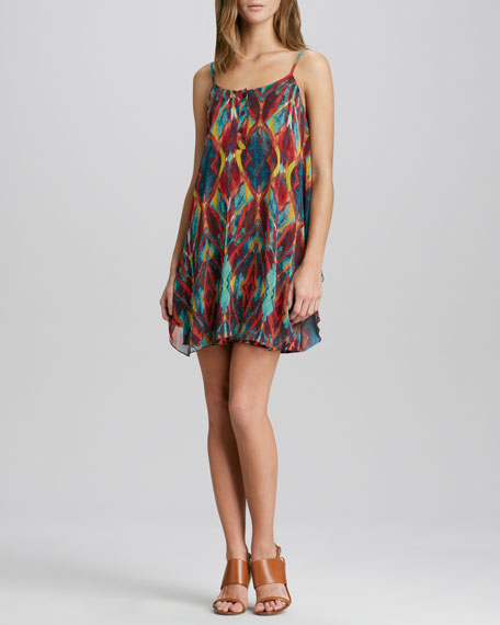 Rhi Diamond-Print Dress