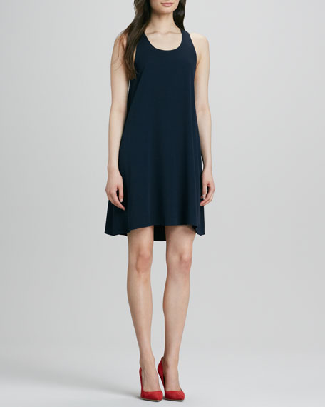 Trina Stretch-Silk Triangle Dress