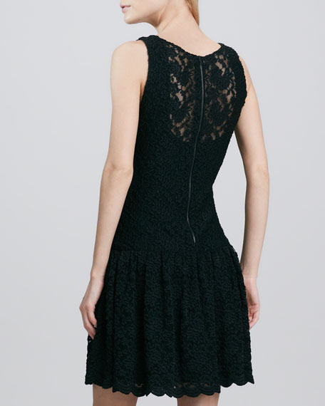 Wendy Drop-Skirt Lace Dress