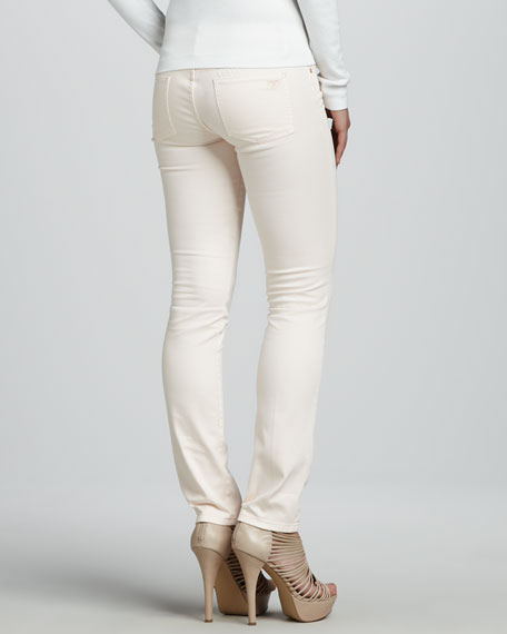 Cropped Skinny Jeans, Ballet Pink