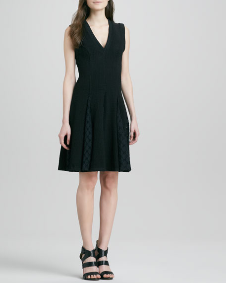 Fit-and-Flare Dress with Godet Skirt
