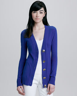 Tory Burch Simone Cardigan, Blue