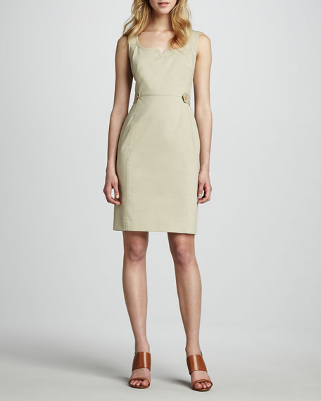 Taylor Sleeveless Dress, French Khaki
