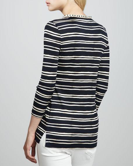 Striped Jersey Tunic, Tory Navy Certa