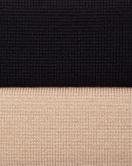 Wool Peplum Two-Piece Sweater and Dress