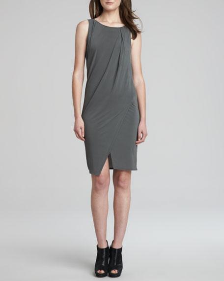Melody Draped Mesh-Back Jersey Dress