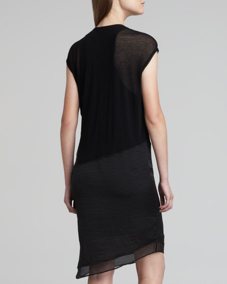 Nebular Jersey Cap-Sleeve Dress