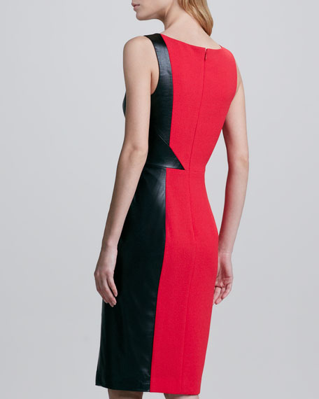 Maicy Two-Tone Fitted Dress