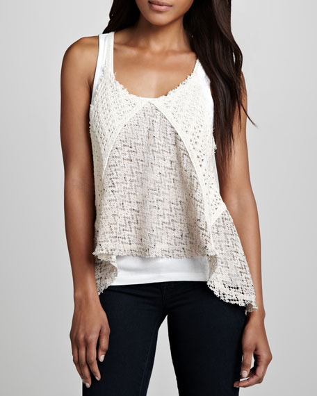 Victory Netted Sheer Tank