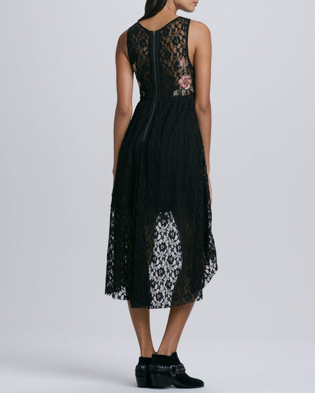 Russian Nesting Doll High-Low Lace Dress