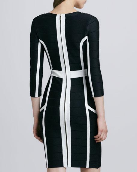 Spotlight Spring Graphic Bandage Dress