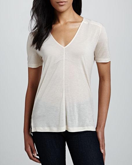 Polly Plains Short-Sleeve Top