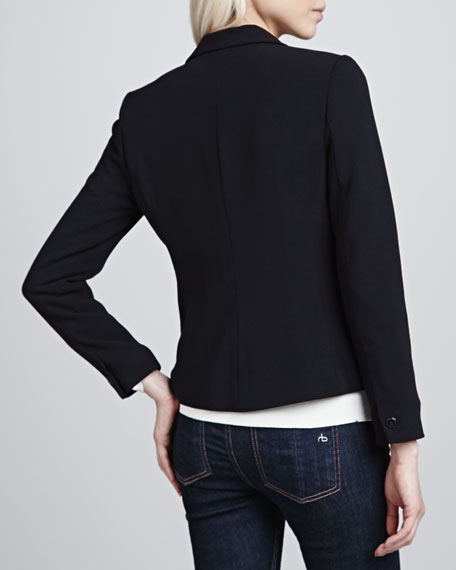 Single-Button Cropped Blazer