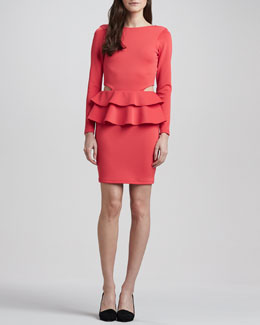 Boulee Dakota Double-Peplum Dress