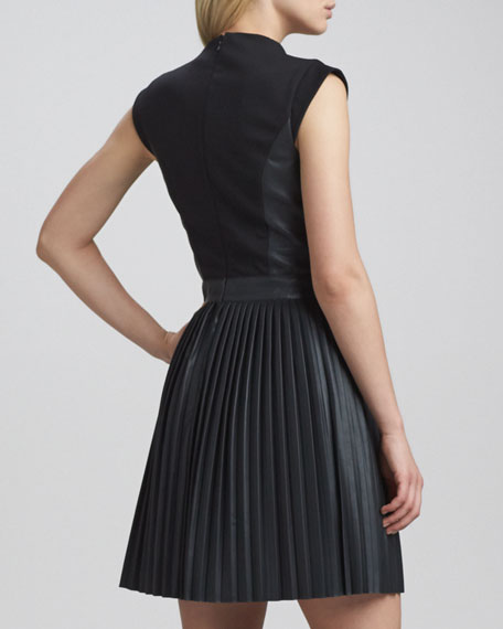 Solar Pleated-Skirt Dress