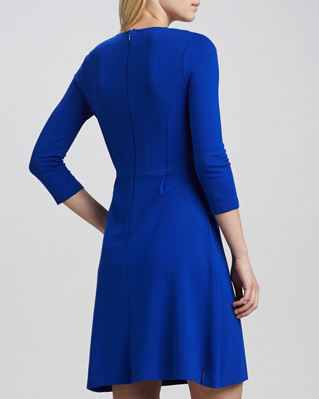 Edie 3/4-Sleeve Jersey Dress