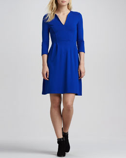 French Connection Edie 3/4-Sleeve Jersey Dress