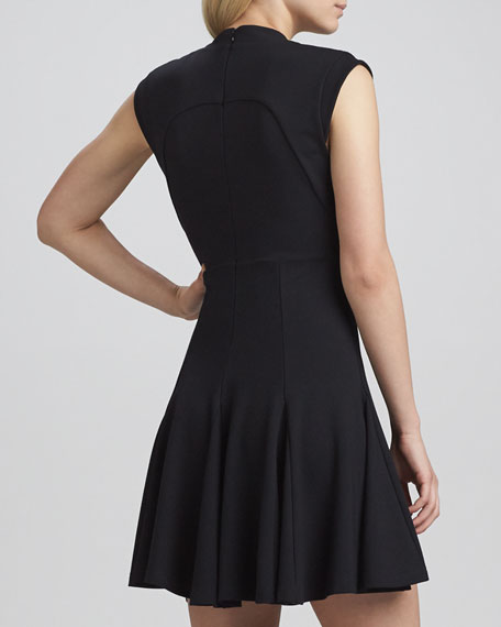Marie Classic Stretch Dress, Black