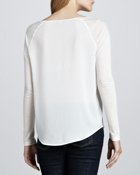 Polly Plains Combo Raglan Top