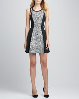 Robbi & Nikki Animal Kingdom Fit-and-Flare Dress