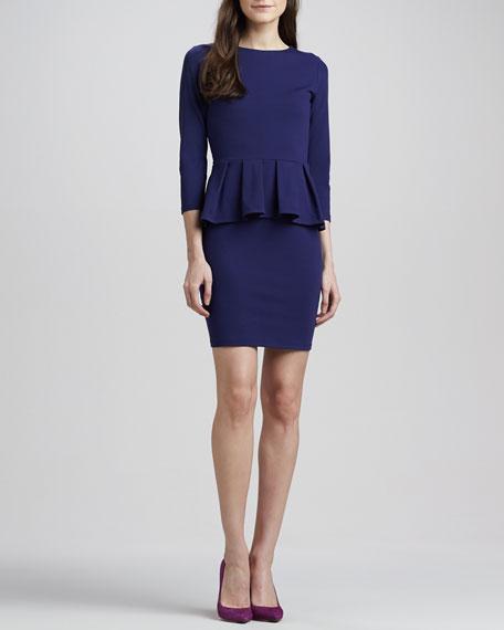 Universe 3/4-Sleeve Peplum Dress