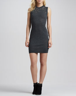 Susana Monaco Lena Sleeveless Burnout-Neck Dress