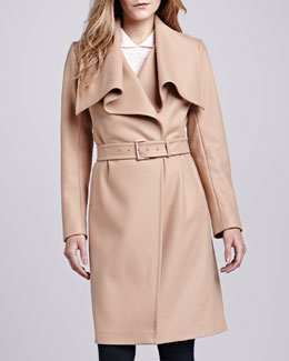 Ted Baker London Madigan Belted Drape-Front Coat