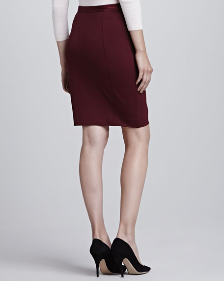 Bebu Center-Stripe Pencil Skirt