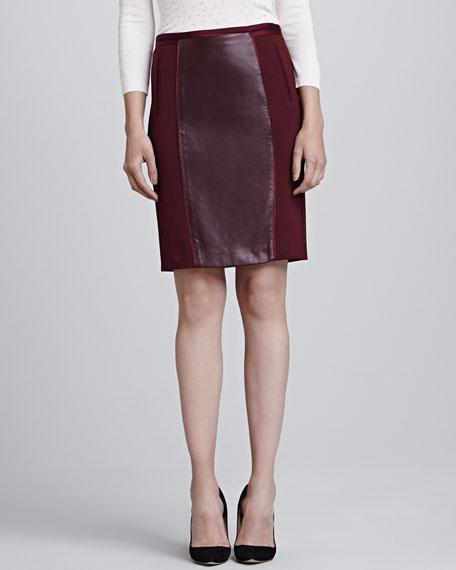Bebu Center-Stripe Pencil Skirt