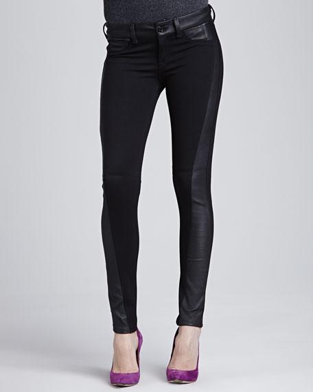 Soho Super-Skinny Leather-Side Pants