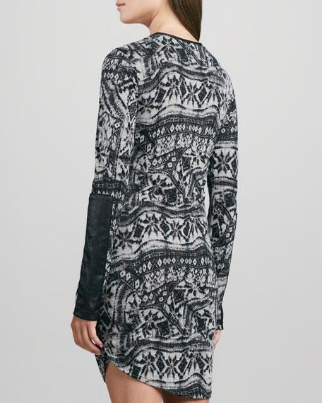 Helmsley Long-Sleeve Tattoo Dress