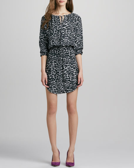 Suriya Printed Snow Leopard Dress
