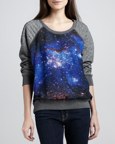 Space-Print Knit Sweater
