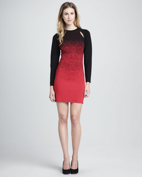 Dusted Ombre Jersey Dress