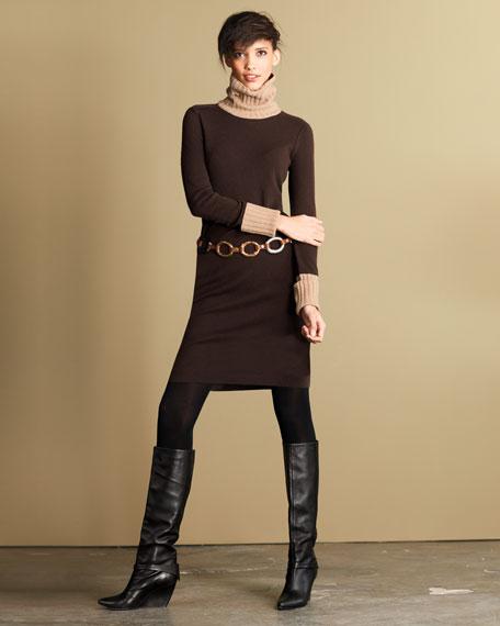 Colorblock Cashmere Dress