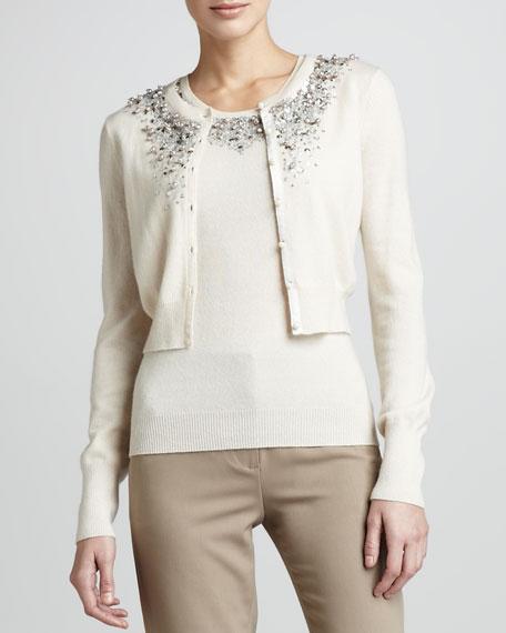 Embellished Cashmere Cardigan