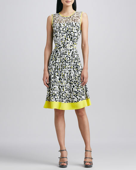 semma sleeveless printed dress