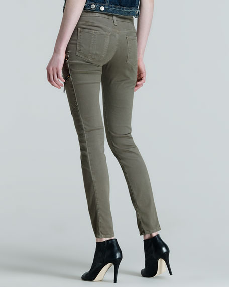 Lariat Army Skinny Zip-Pocket Cargo Pants