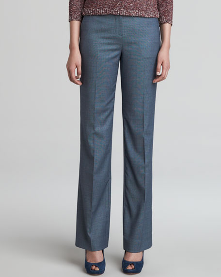 Gail Straight-Leg Wool-Poly Pants