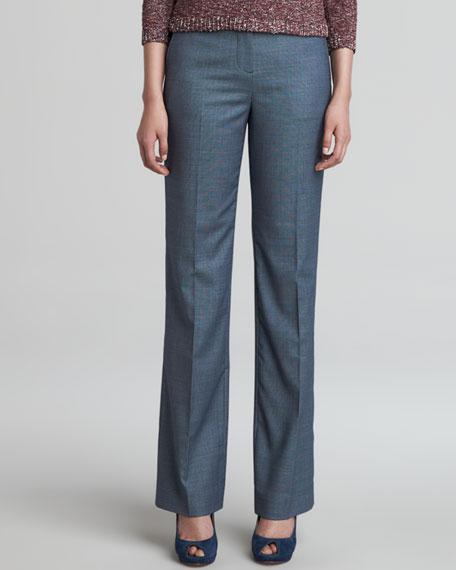 Gail Straight-Leg Wool-Poly Pants