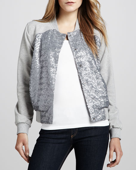 Sultana Sequined Sweatshirt Jacket