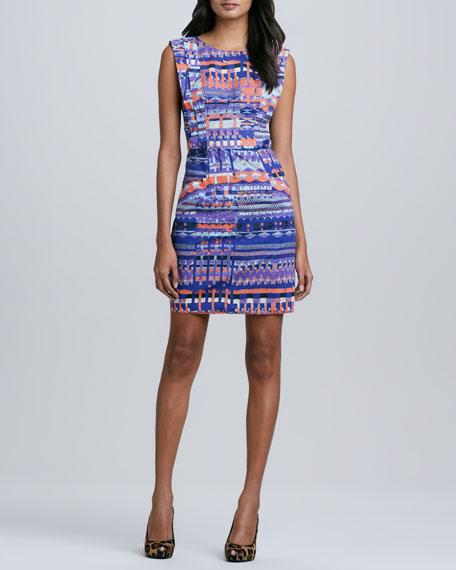 Tapestry-Print Poplin Shift Dress