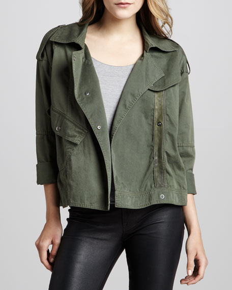Hauser Motorcycle Jacket, Olive (Stylist Pick!)