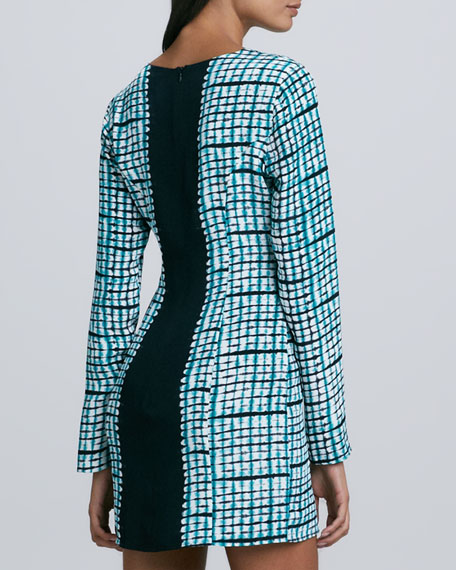 Lydia Printed Center-Stripe Shift Dress