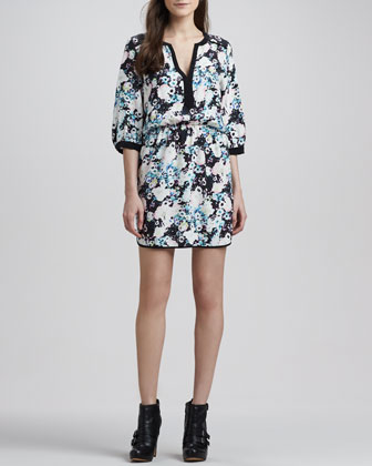 Mallory Floral Blouson Dress