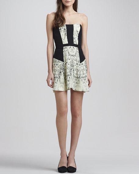 Mara Strapless Printed Dress