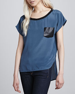 Boundary Sam High-Low Pocket Top