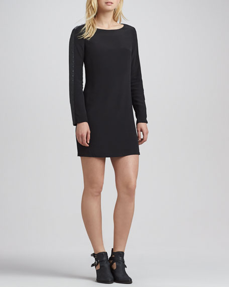 Liz Stud-Sleeve Shift Dress