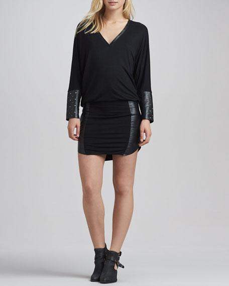 Melissa Stud-Cuff Minidress